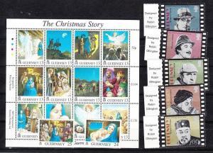 Guernsey Scott 576-583 Mint NH (Catalog Value $15.20)