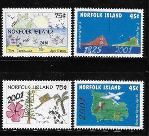 Norfolk island 2000 Millennium children´s art MNH A42