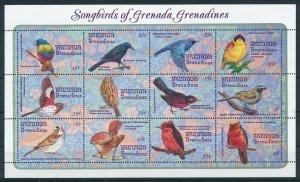 [108896] Grenada Grenadines 1993 Birds vögel Sparrow Flycatcher Mini sheet MNH