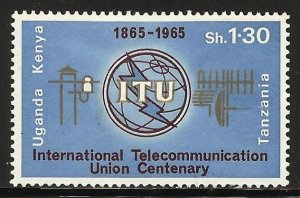 Kenya, Uganda & Tanzania 1965 Scott# 154 MH (gum disturbance)