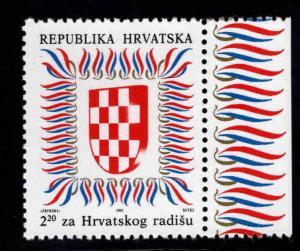 Croatia Scott RA22 Mint No Gum, MNG Postal Tax stamp