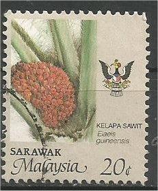SARAWAK, 1986, used 20c, Agriculture Scott 260