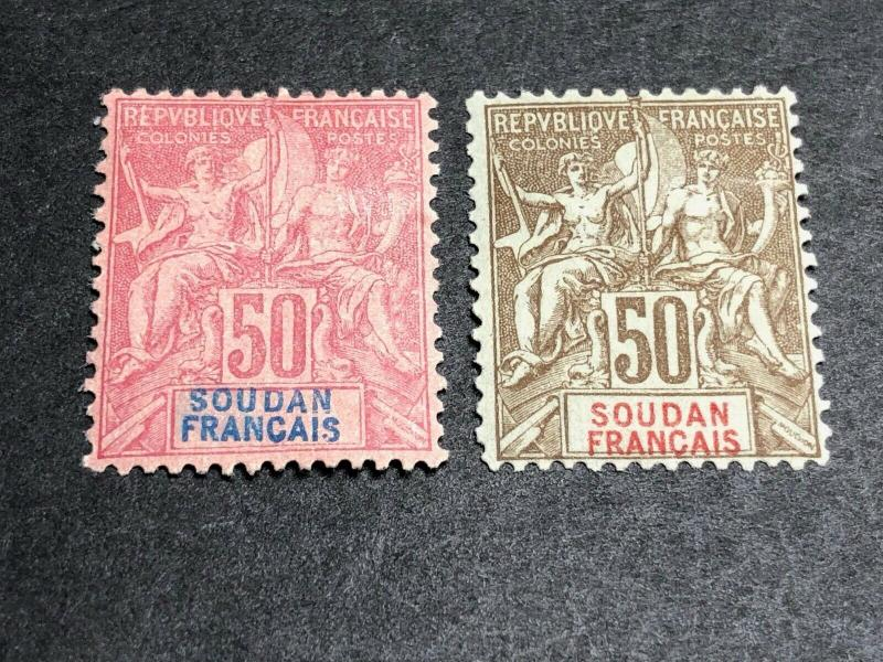 French Sudan Scott 16-17 Mint OG CV $71