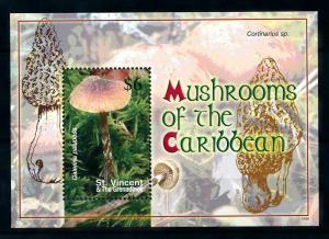 [100367] St. Vincent 2007 Mushrooms Pilze Champignons Souvenir Sheet MNH