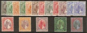 MALAYA PERAK SG103/19 1938-41 SET TO $1 MTD MINT