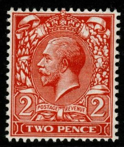 GB SGN19(3) 1916 2d DEEP REDDISH ORANGE DIE I MNH