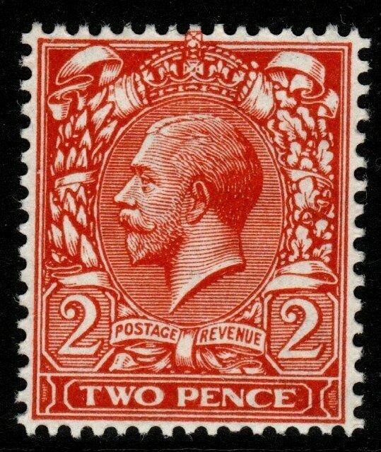 GB SGN19(3) 1916 2d DEEP REDDISH ORANGE DIE I MNH