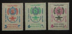Saudi Arabia 252-54. 1962 Anti-Malaria