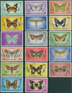 Norfolk Island 1977 SG179-195 Butterflies and Moths set FU