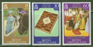 Virgin Islands  Scott 317-319 1977 QE2 Reign set MNH** CV $.75