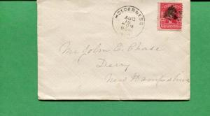 New Hampshire Cover - Holdrerness 1906 W/ Target Cancel - S8532