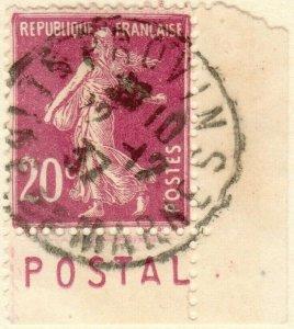 FRANCE - 1937 Bande pub  POSTAL  sur Yv.190 20c t.VI - Obl. PROVINS (A1)