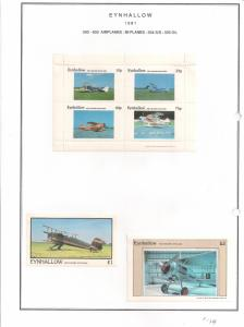 SCOTLAND - EYNHALLOW - 1981 - BiPlanes #1 - Perf  4v, Souv, D/L Sheets MLH