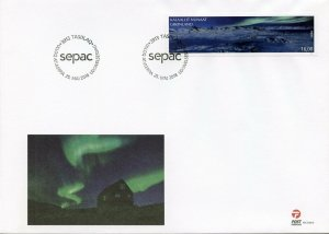 Greenland 2018 FDC Amazing Views SEPAC Aurora Borealis 1v Cover Mountains Stamps