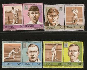 Tuvalu MNH 259-62 Cricket Players
