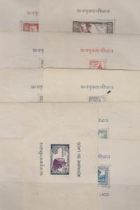 B)1951 LAOS, PEOPLE, LAOTIAN WOMAN, TEMPLES, ANNIVERSARY OF