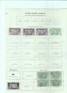 IVORY COAST STAMPS ON ALBUM PAGES