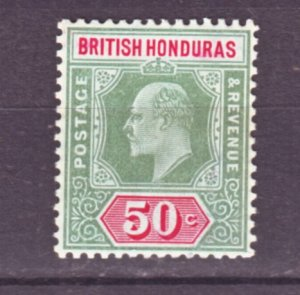 J22179 Jlstamps 1904-6 br honduras mh #68 king wmk 3