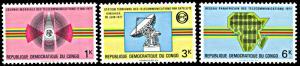 Congo DR 732-734, MNH, World Telecommunications Day