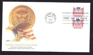 CVP31 Computer Vended Postage Fleetwood coil pair FDC