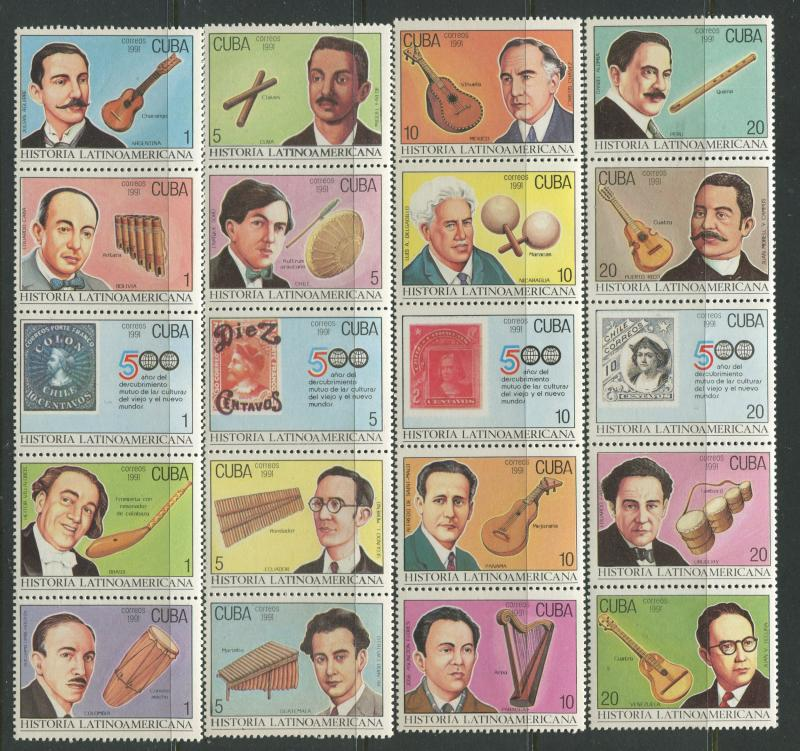 Cuba - Scott 3356-3375 - History Type -1991 - Set of 20 Stamps