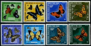 HERRICKSTAMP AFARS AND ISSAS Sc.# 392-99 Butterflies Mint NH