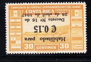 Costa Rica Scott C146 Mint hinged (inverted ovpt.) - 150 exist