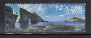 Faroe Islands MNH 2011 10.50kr Island view - Sepac
