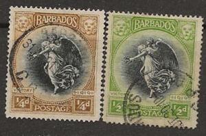 Nickel Auction. Barbados 140-141 u [ca02]