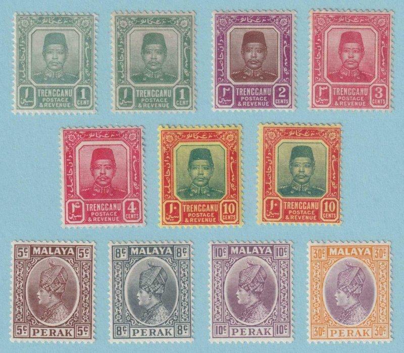 MALAYA - PERAK AND TRENGGANU - INTERESTIMNG MINT HINGED OG * GROUP - V165