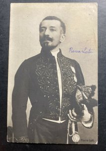 1911 France Real Picture postcard Cover To Calgary Canada Pierre Loti