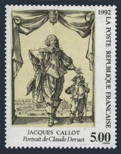 France 2297,MNH.Michel 2906. Jacques Callot,by Claude Deruet,1992.