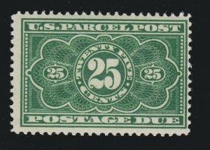 US JQ5 25c Parcel Post Postage Due Mint Fine OG NH SCV $185