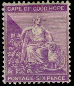 SOUTH AFRICA - Cape of Good Hope SG52b, 6d mauve, M MINT. Cat £15.