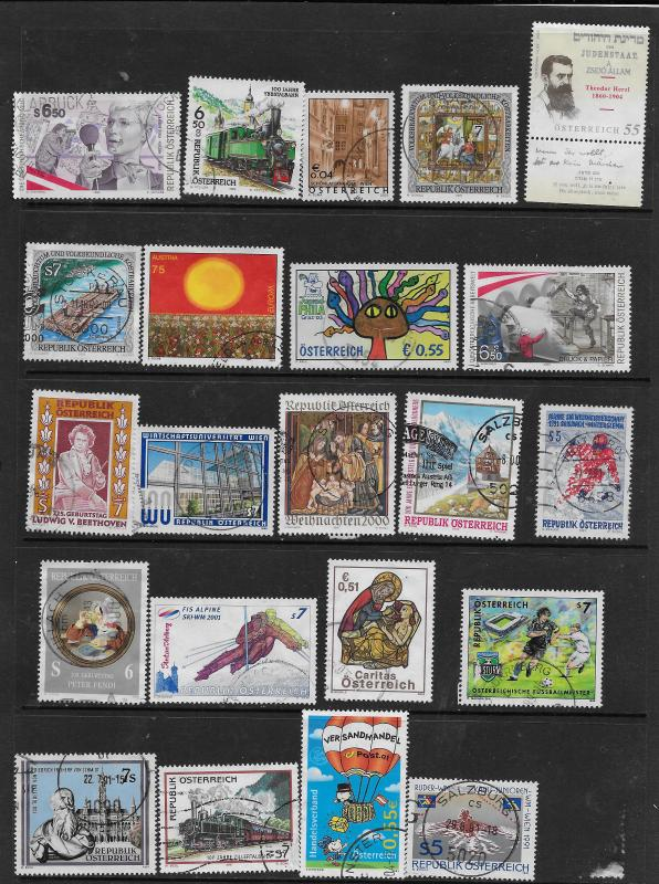 AUSTRIA USED GROUP 50 STAMPS AT A LOW PRICE