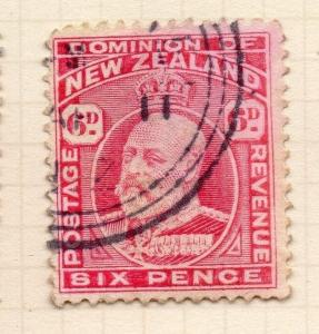 New Zealand 1909-13 Early Issue Fine Used 6d. 067879