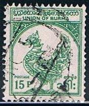 Burma 144, 15p Mythical Bird, used, VF