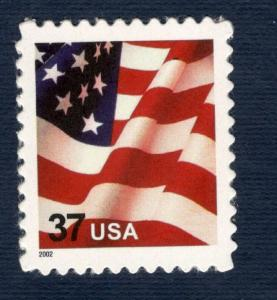 3630 Flag US Single With Microprinted USA Mint/nh FREE SHIPPING