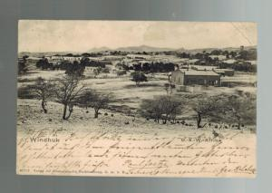 1905 Windhoek  German Southwest Africa Postcard Cover Town view Real Picture