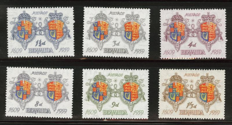 BERMUDA Scott 169-174 MH* 1959 Coat of Arms set