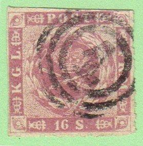 DEN SC #10 1863 Royal Emblems w/repair @ T on backside, CV $650.00