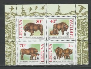 Lithuania 1996 Fauna Animals WWF 4 MNH stamps