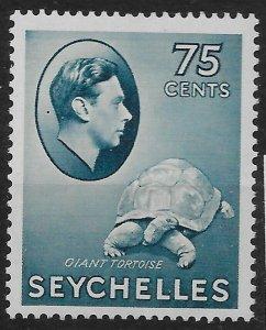 SEYCHELLES SG145 1938 75c SLATE-BLUE MTD MINT