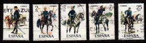 Spain - #2051 -2055 Uniform Type set/5 - Used