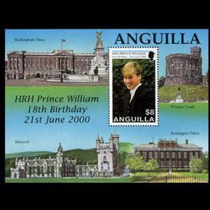 ANGUILLA 2000 - Scott# 1023 S/S Prince William NH no gum