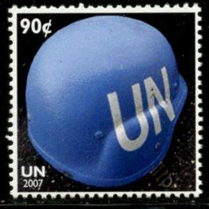 UNITED NATIONS Sc# NY 940 2007 90c UN Peacekeeper Helmet Complete MNH