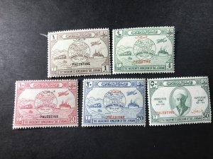 JORDAN # N18--N22-MINT/HINGED--PALESTINE-OCCUPATION--COMPLETE SET--1949
