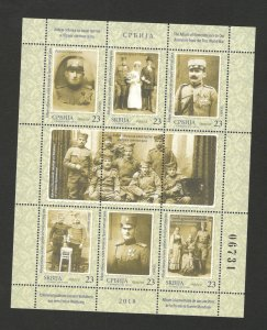 SERBIA-MNH-S/S-THE ALBUM OF REMEMBRANCE TO OUR ANCESTORS FROM THE WWI-2018.