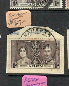 ADEN  (PP1106BB) 1 A  CORONATION  PIECE SG 13    KAMARAN  CDS  VFU
