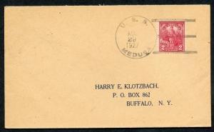 Stati Uniti Uss Medusa Commerciale Cover 8/29/1927 To Buffalo, Ny come Mostrato